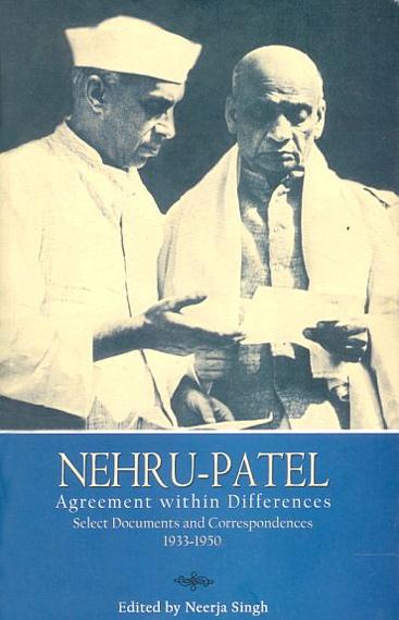 Jawaharlal Nehru with Sardar Patel.