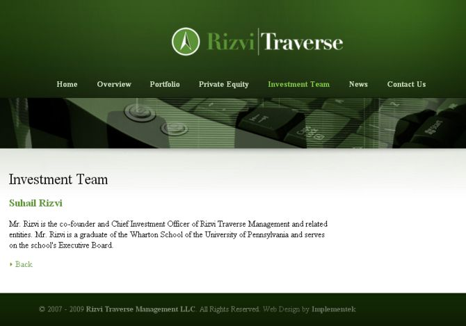 Rizvi Traverse website screenshot.