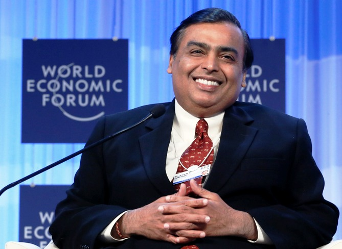 Reliance Industries chairman Mukesh Ambani.