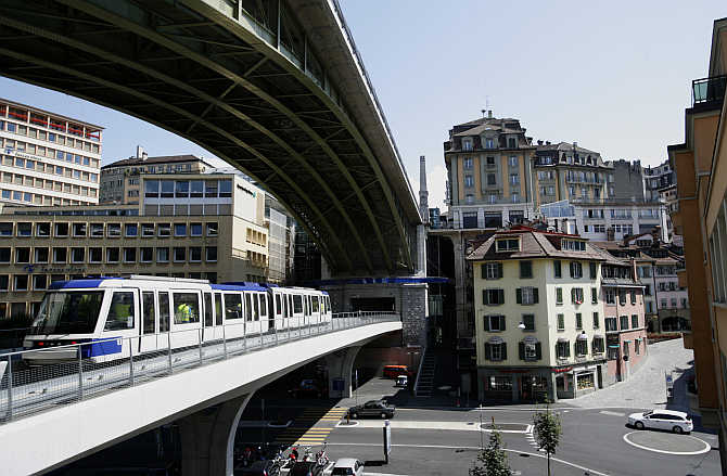 A view of Lausanne, Switzerland.