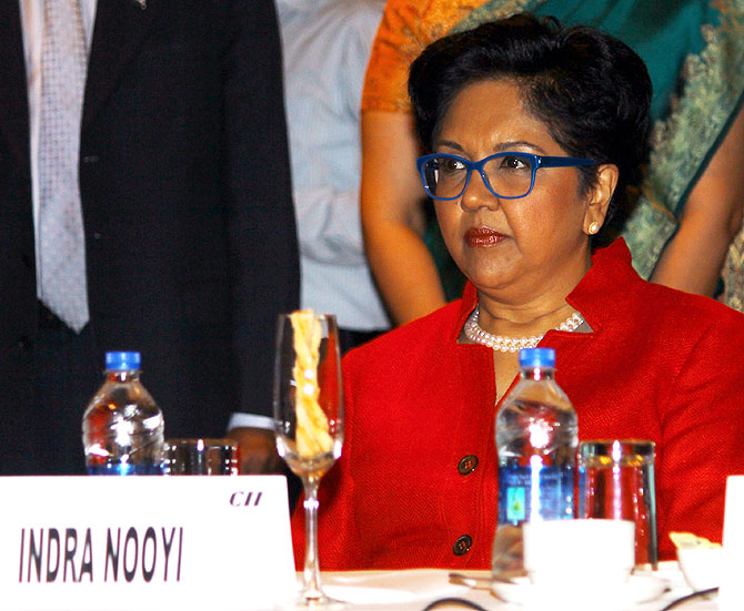 Indra Nooyi, Chairperson and CEO, Pepsico, in Mumbai on Friday.