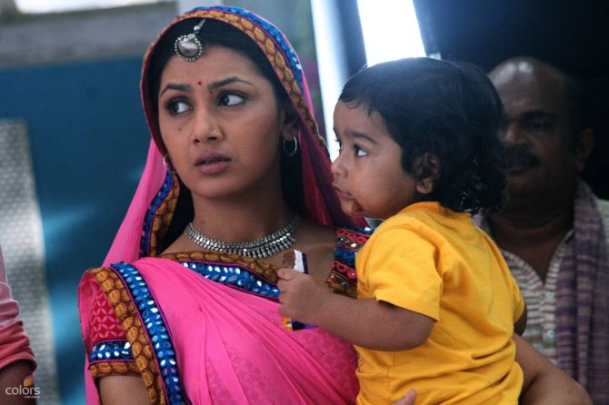 A still from TV serial Balika Vadhu.