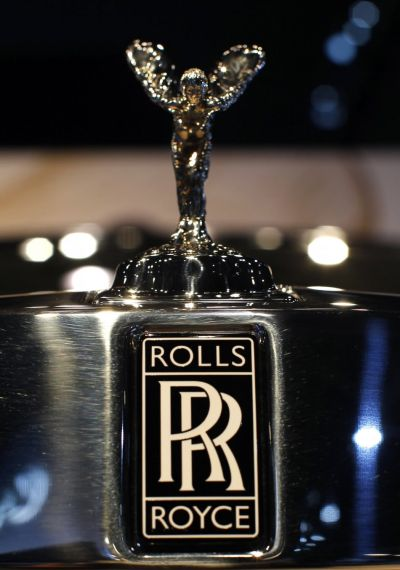 The Rolls-Royce logo Spirit of Ecstasy.