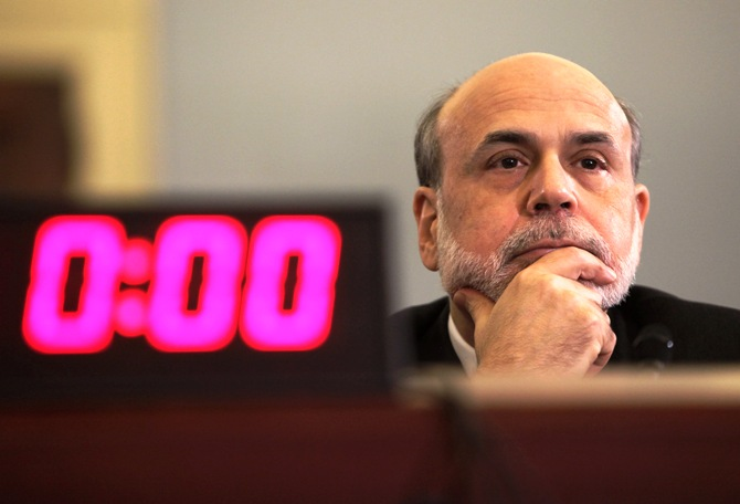 US Federal Reserve Chairman Ben Bernanke testifies before the House Budget committee hearing.
