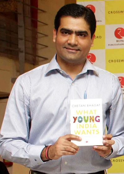 Rupa Publications Managing Director Kapish Mehra at the launch of Chetan Bhagat's first non-fiction book What Young India Wants.