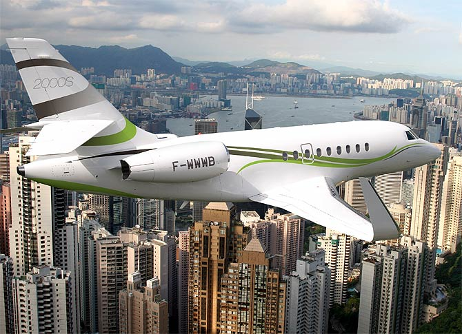 Falcon 2000S business jet.