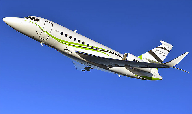 The stunning Falcon 2000S business jet in India soon