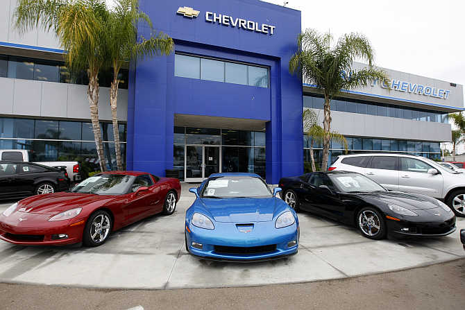 Three Chevrolet Corvettes on sale in Escondido, California.