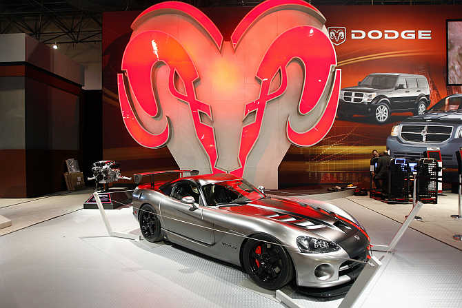 A view of Dodge Viper on display in New York.