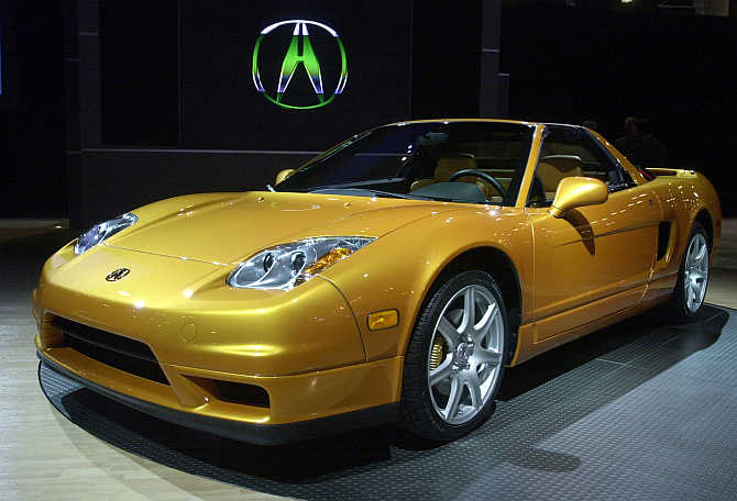 A view of Acura NSX in Los Angeles.