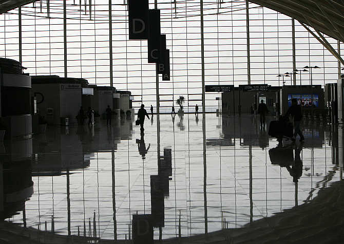A view of Terminal 2 of Pudong International Airport in Shanghai.
