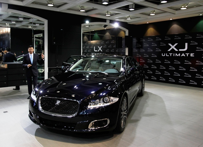 Joseph Lau, general manager of Jaguar Land Rover Hong Kong, introduces Jaguar XJ Ultimate, the most luxurious Jaguar sedan ever made by the British automotive manufacturer.