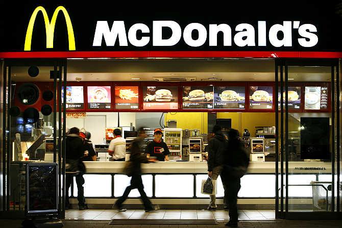 A McDonald's restaurant in Tokyo, Japan.