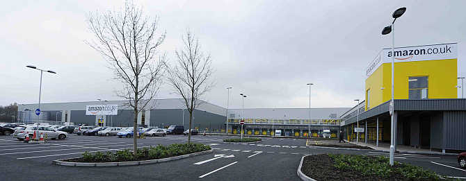 Amazon's warehouse in Dunfermline, Scotland.