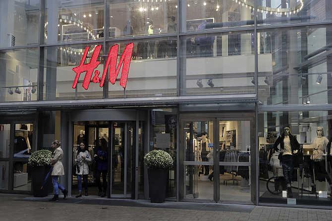 A H&M store in Riga, Latvia.
