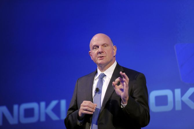 Outgoing Microsoft Chief Executive Steve Ballmer