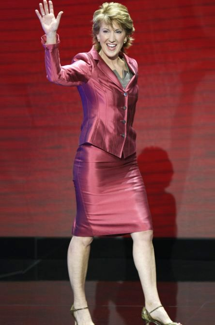 Carly Fiorina, former Chairman and CEO of Hewlett-Packard, received one of the highest comp