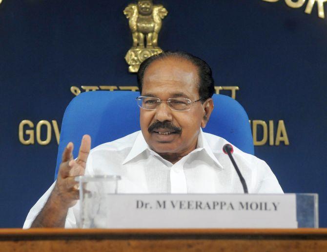 Oil Minister M Veerappa Moily.