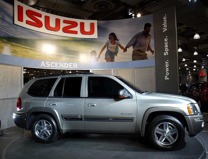 Isuzu's Ascender on display in New York.