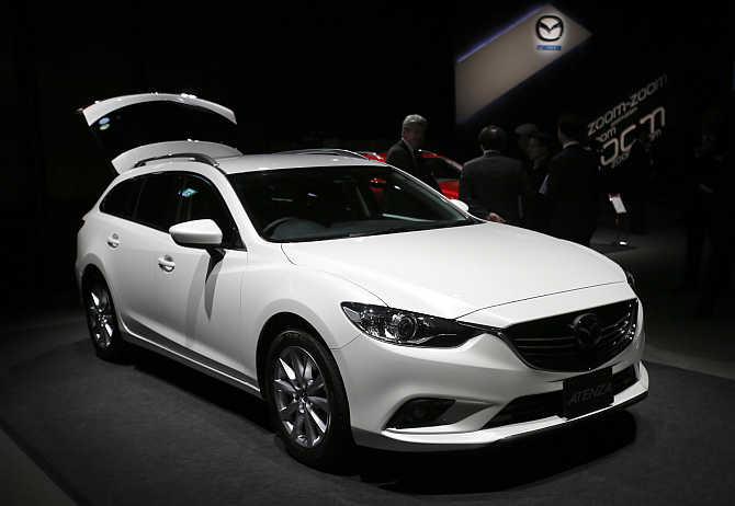 Mazda 6 on display in Tokyo.