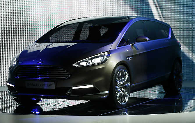 Ford S-Max concept car on display in Frankfurt.
