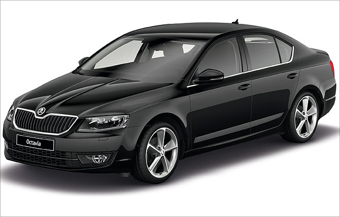skoda launches octavia sedan at rs lakh business. Black Bedroom Furniture Sets. Home Design Ideas