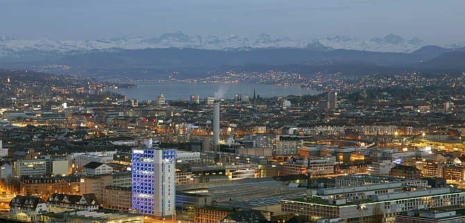 A view of Zurich, Switzerland.