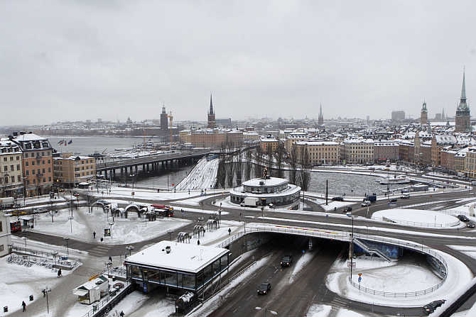 A view of Stockholm in Sweden.