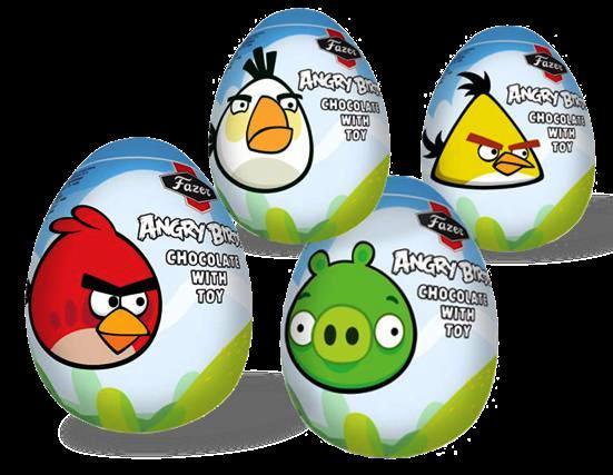 Angry Bird chocolate eggs.