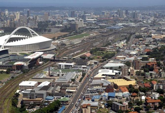 Durban skyline.