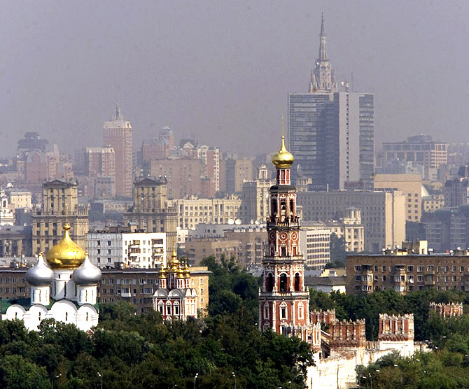 A view of downtown Moscow.
