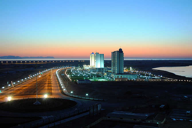 A view of Avaza resort in Turkmenistan.