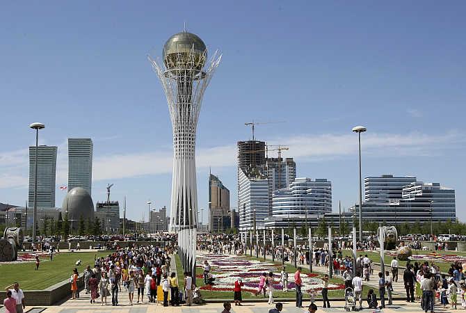 A view of Astana, Kazakhstan.