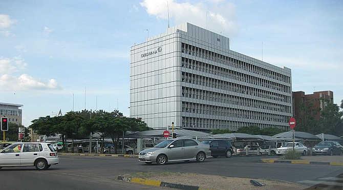 Headquarters of Debswana Diamond Company in Gaborone, Botswana.