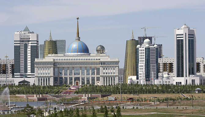 A view of Astana, Kazakhstan.