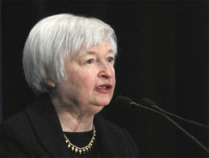 Federal Reserve Vice Chair Janet Yellen. Photograph: Gary Cameron/Reuters