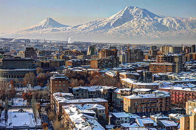 A view of Yerevan, the capital city of Armenia.