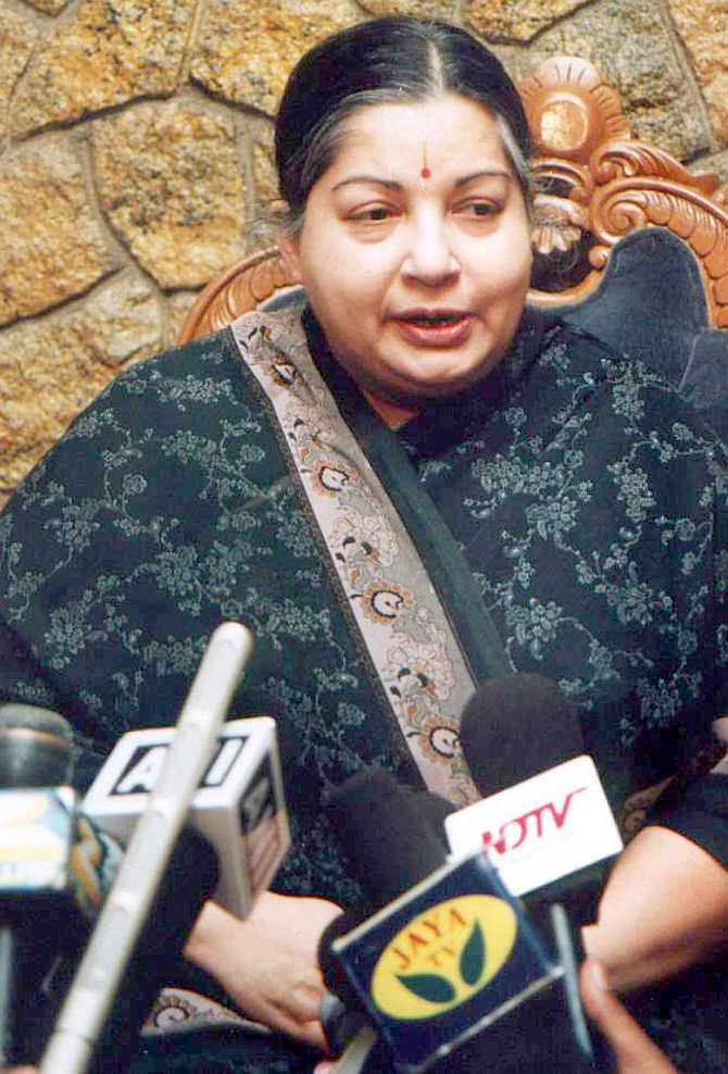 J Jayalalitha in Chennai.