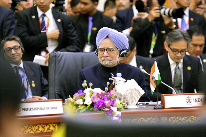 Prime Minister Manmohan Singh attends the 8th East Asia Summit in Bandar Seri Begawan.