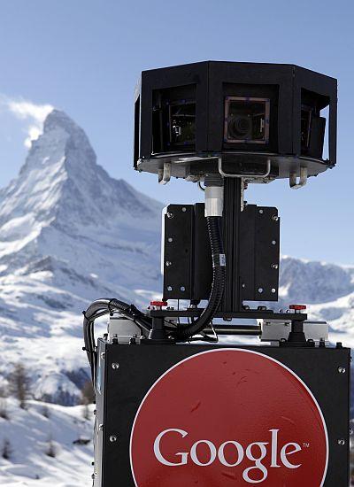The Google Street View snowmobile camera.
