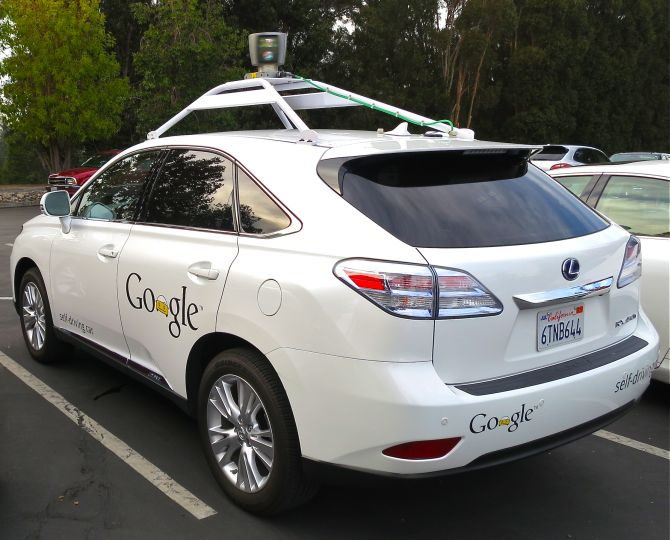 RX450h retrofitted by Google for its driverless car fleet.