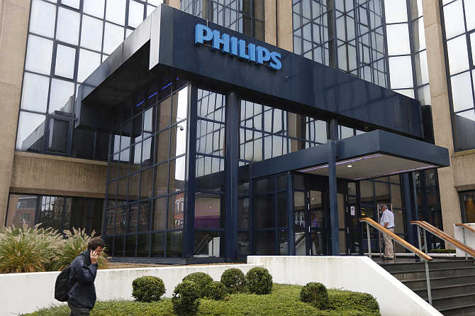 Philips office in Brussels, Belgium. Havells is competing with big companies, such as Philips.