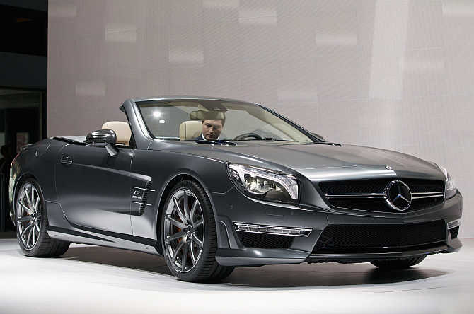 Mercedes-Benz SL65 AMG on display in New York.
