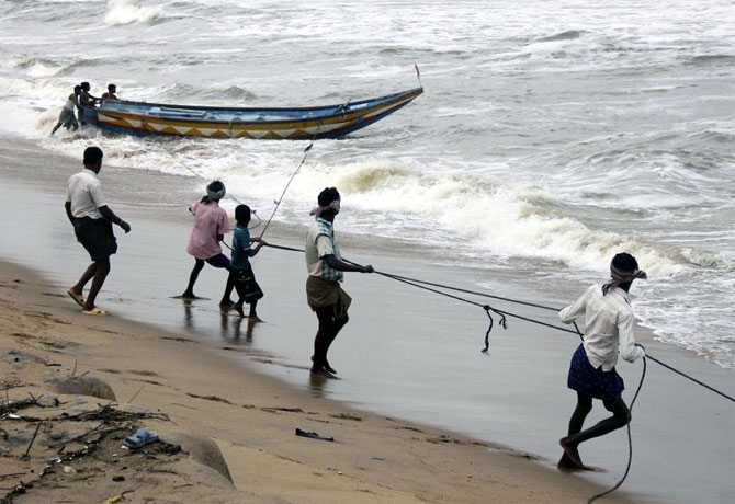 A sea coast in Odisha.