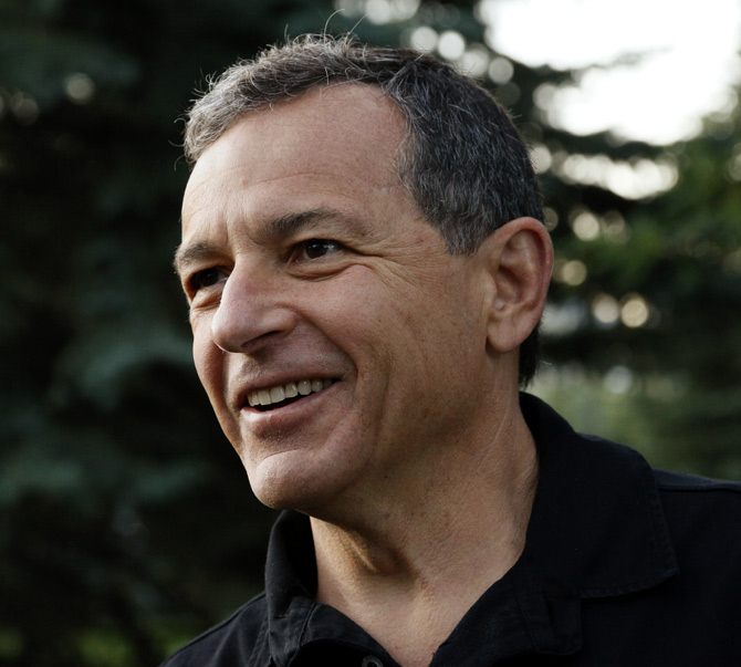 Robert Iger, CEO of The Walt Disney Company arrives at the annual Allen and Co. conference at the Sun Valley, Idaho Resort.