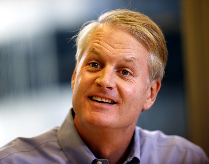 John Donahoe, chief executive of eBay, speaks at the Reuters Global Technology Summit in San Francisco.