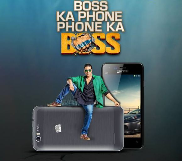 Akshay Kumar in Micromax Canvas Bolt Ad.