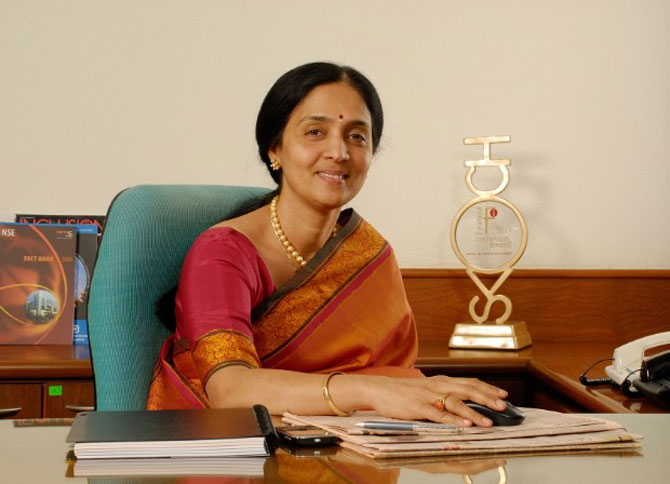 National Stock Exchange chief Chitra Ramkrishna.