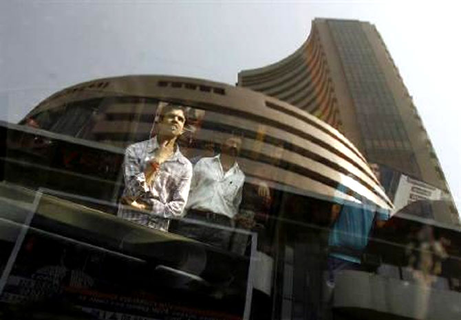 Sensex sheds over 100 points, RBI policy eyed