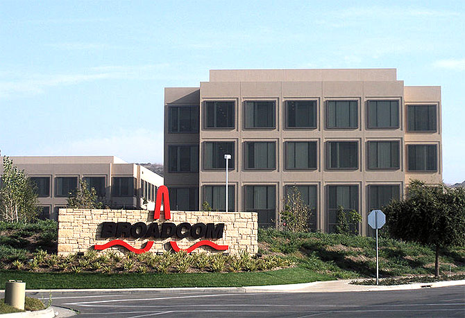Corporate headquarters of Broadcom.